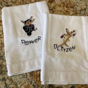 POTTERY BARN | Reindeer Hand Towels